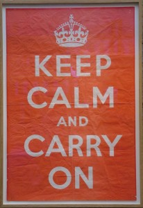 Original copy of the Keep Calm And Carry On poster, in Barter Books, Alnwick (pic via Wikimedia Commons)