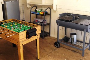 games room table football BBQ