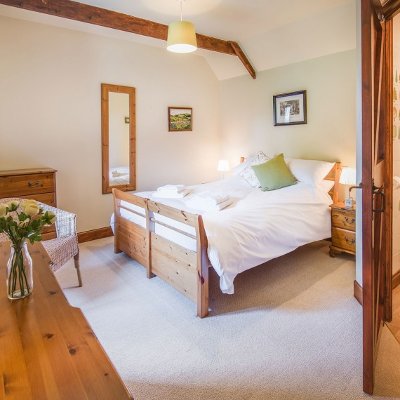 Light airy cottage bedroom