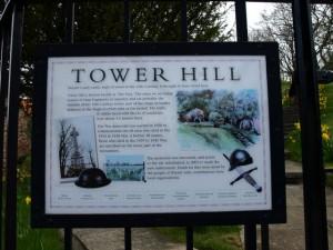 Wooler Tower Hill sign