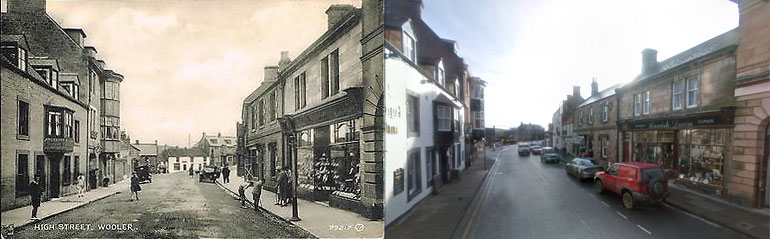 Wooler then and now