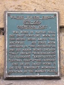 Wilfrid Wilson Gibson plaque
