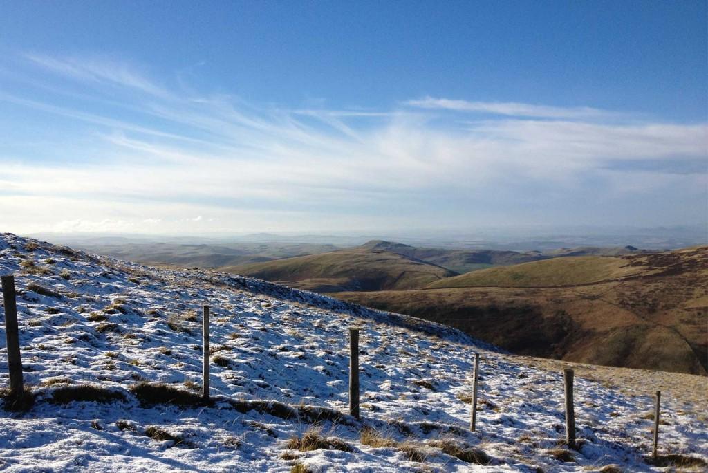Snow on hilltop