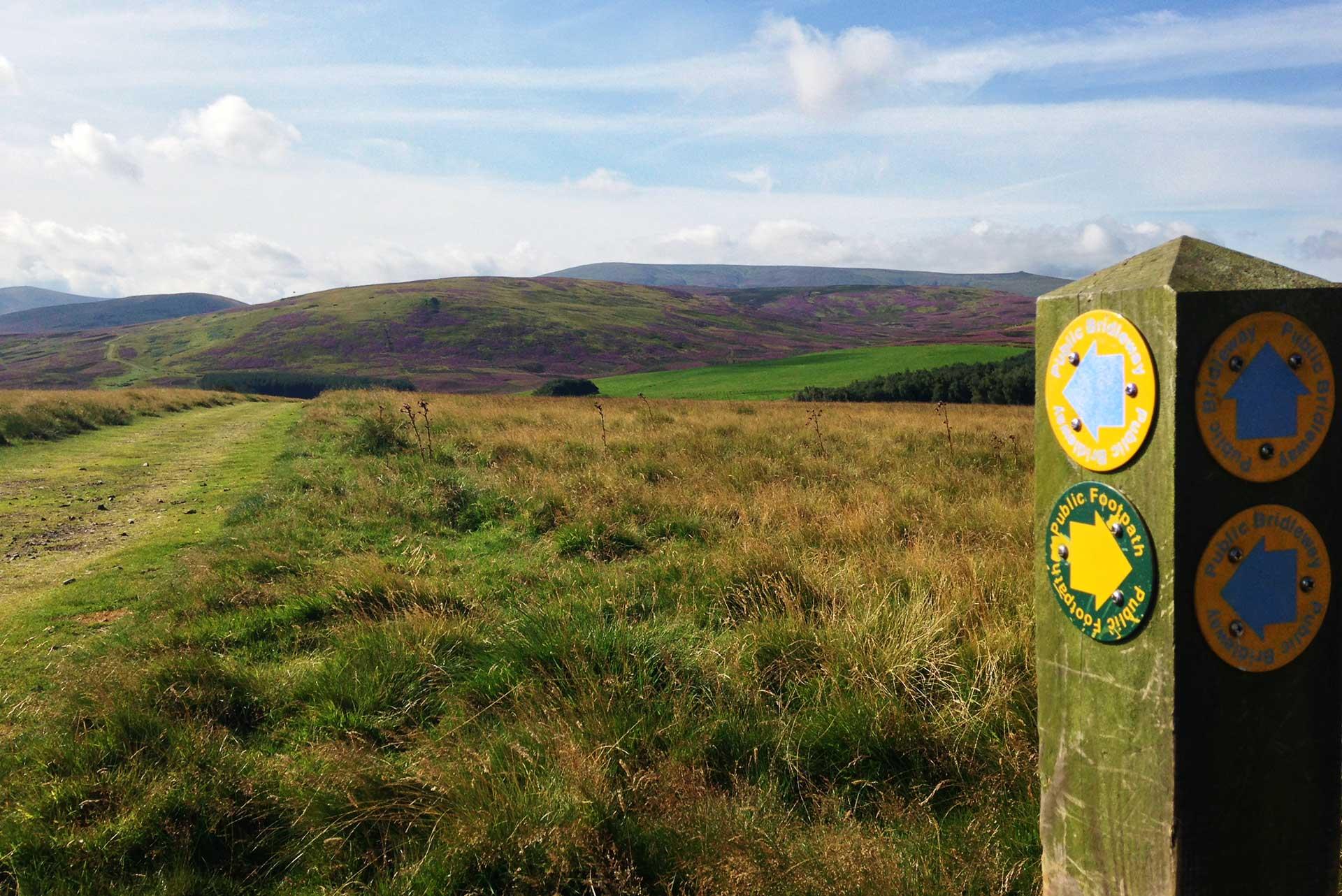Waymarker towards Great Moor