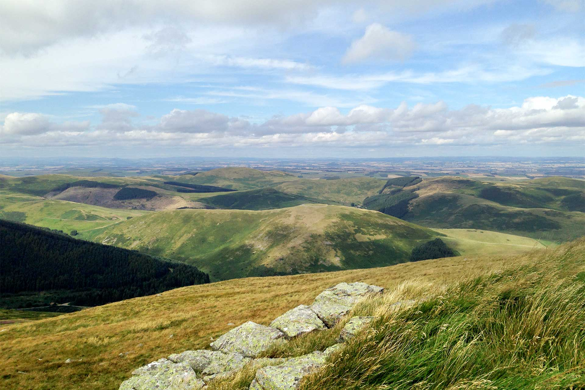 Hare Law view over hills and plain