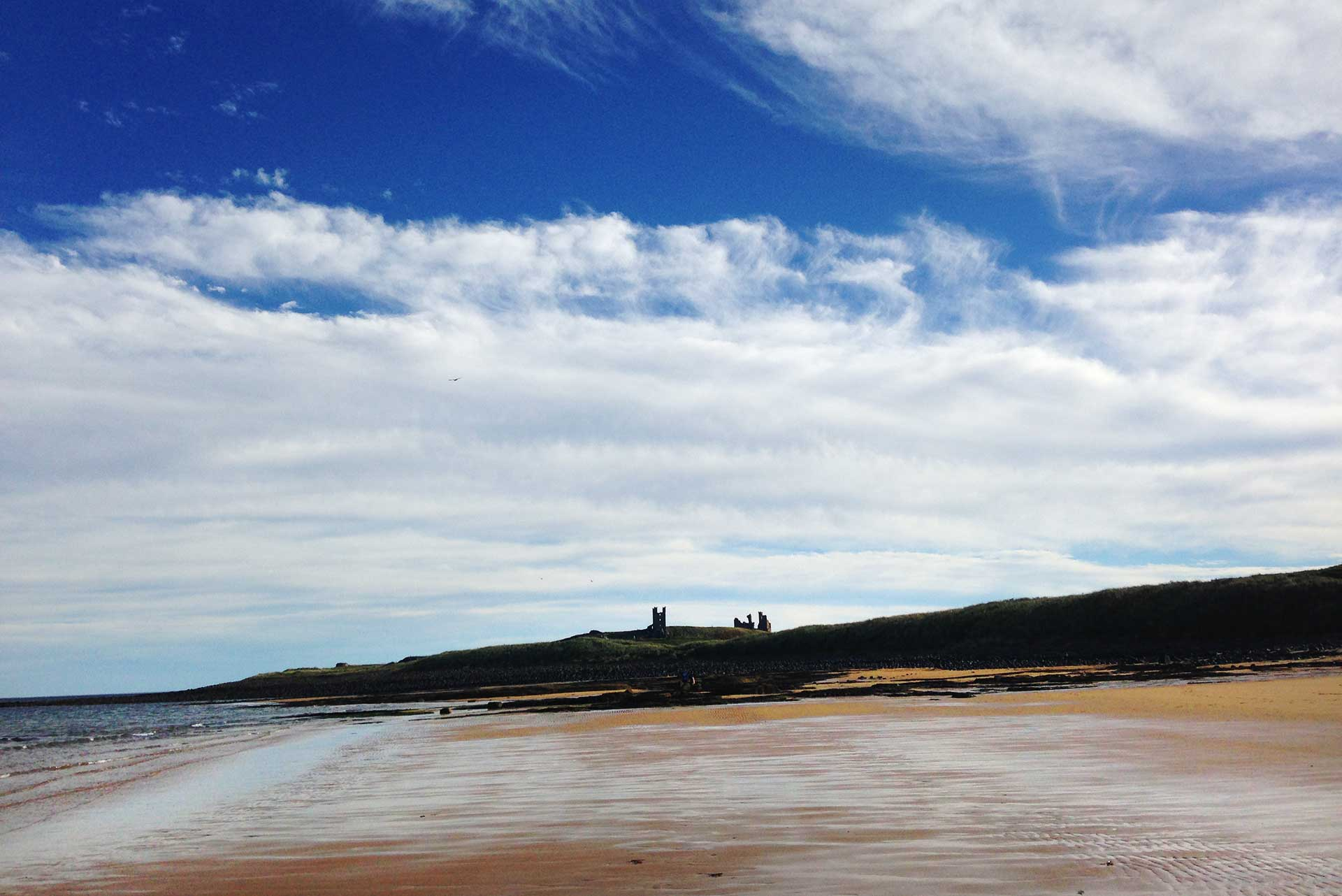 Embleton Bay towards Dunstanburgh Castle
