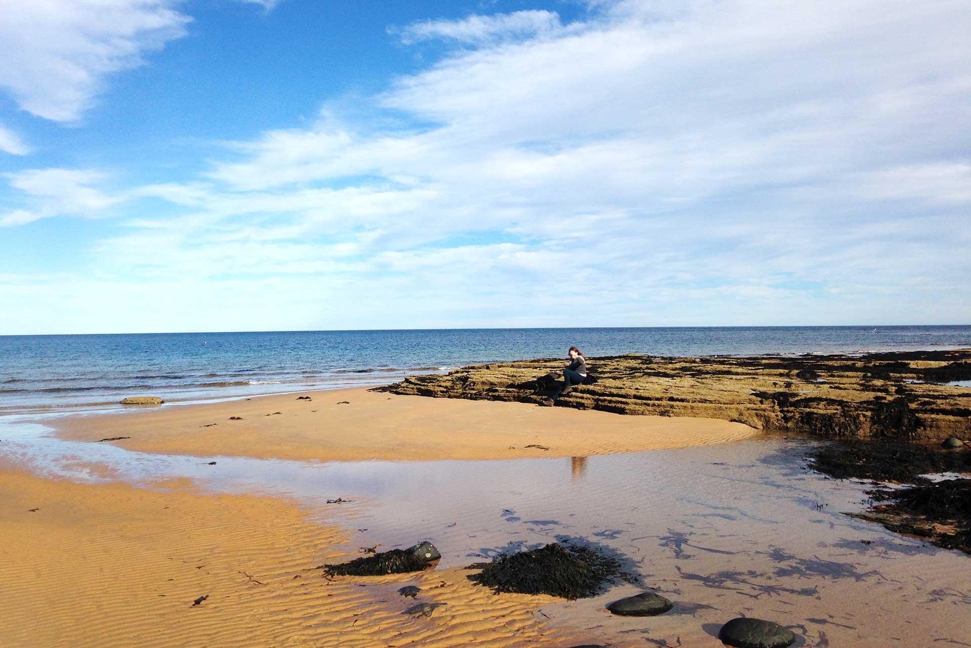 Sea and beach at Embleton Bay