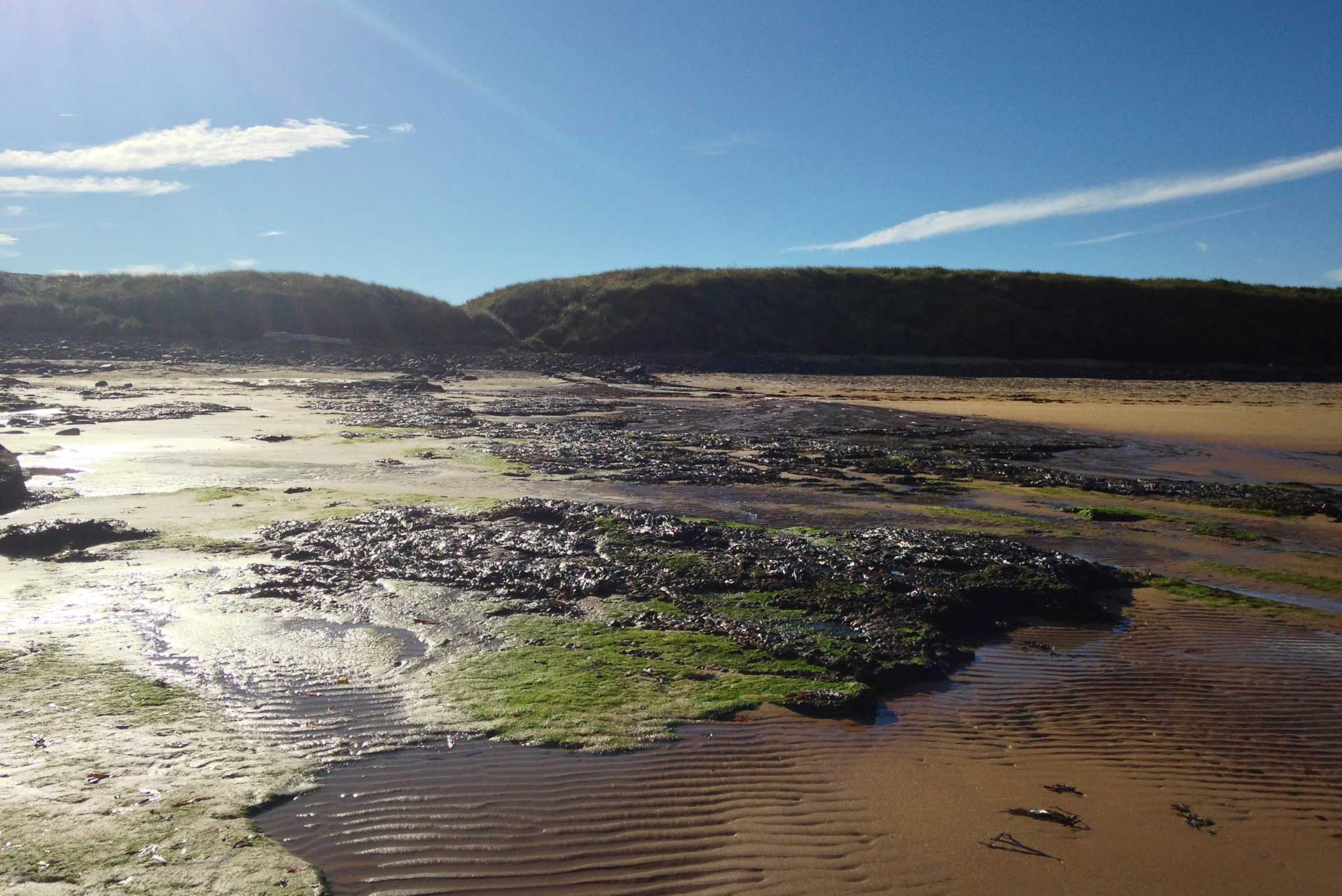 Rocks on beach at Embleton Bay