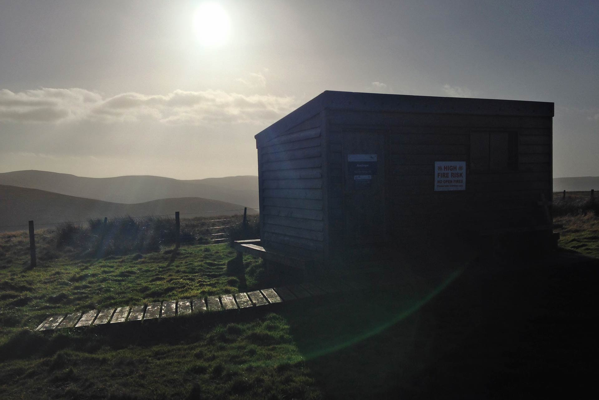 Auchope mountain refuge hut