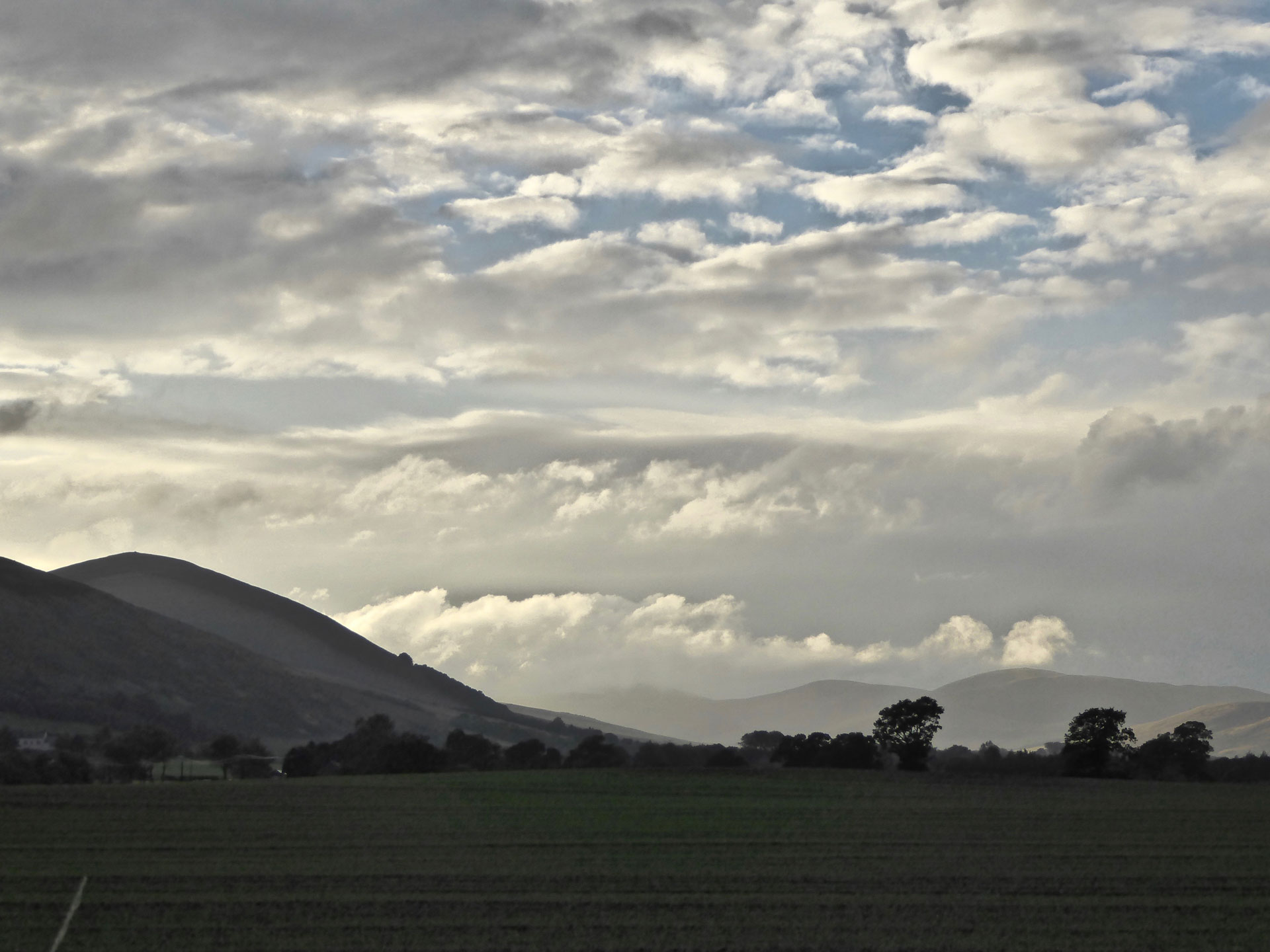 Clouds loom over Cheviot hills